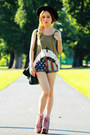 Pink-jeffrey-campbell-boots-forest-green-h-m-bag-topshop-shorts