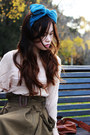 Light-brown-suede-mimi-loves-gimi-shoes-dark-brown-bonia-bag-teal-hair-bow-a