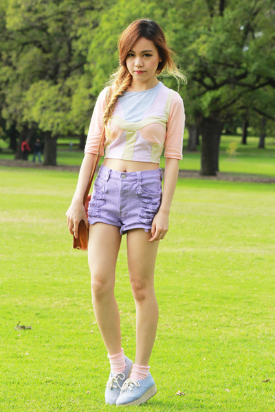 Light-blue-monki-shoes-light-purple-minkpink-shorts-nude-asos-top_400
