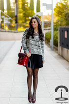 Sheinside sweater - Stella Rittwagen bag - inlovewithfashion skirt
