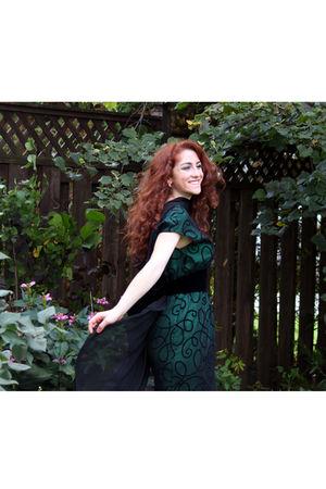 green Gala dress