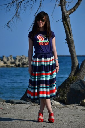 tailor made skirt - local brand sandals