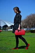 Zara shoes - Street One dress - motor jacket