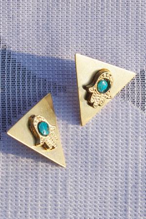 gold stud Crossroads Trading Co earrings