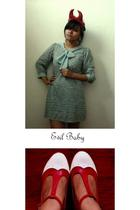 devil horns headband accessories - baby doll dress dress - two-toned pumps shoes