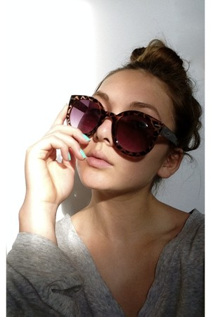 Urban Outfitters sunglasses - Holt Renfrew top - Urban Outfitters accessories