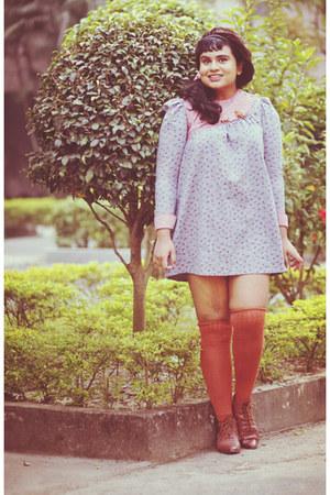 periwinkle vintage dress