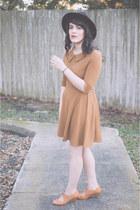 OASAP dress - lace up heels Chelsea Crew shoes - fedora hat Charlotte Russe hat