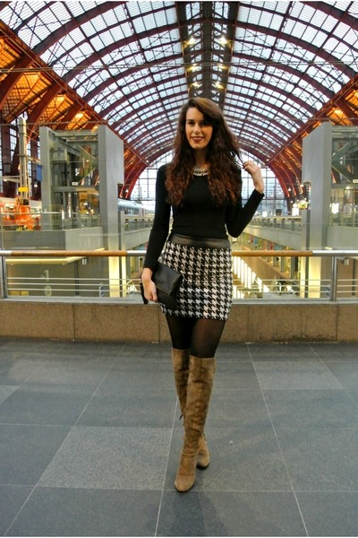 houndstooth c&a skirt