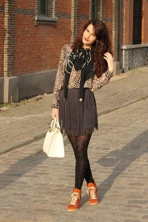 fringe Zara skirt