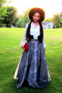 White-pre-order-top-heather-gray-yard-sale-skirt