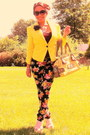 Yellow-candies-blazer-chartreuse-marciano-guess-purse