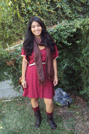 crimson olsenboye dress - dark brown brown lace up Call it Spring boots