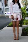 H-m-bag-zara-shorts-badgley-mischka-sandals-forever-21-blouse