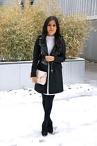 Zara dress - sam edelman boots - Zara coat - hm bag