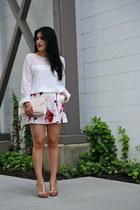 H&M bag - Zara shorts - Badgley Mischka sandals - Forever 21 blouse