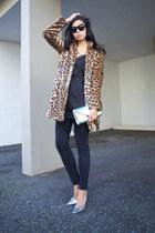 bronze Zara coat - black lace slip Zara dress - black 8 jeans Blk Dnm jeans