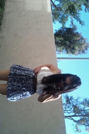 Angie blouse - Nordstrom belt - forever 21 skirt