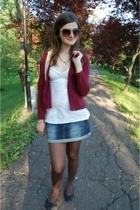 vintage from naturaline blazer - hollister t-shirt - Bershka skirt - FF shoes -