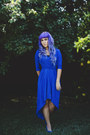 Blue-high-low-forever-21-dress-black-forever21-shirt-blue-thrifted-heels