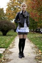 Express jacket - Target scarf - DIY shirt - Forever 21 skirt - Target stockings
