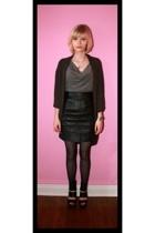 Target sweater -  blouse - Ebay skirt - Target tights - Ebay shoes - vintage nec