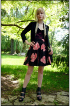 DIY blazer - Cheap Monday intimate - top - Target skirt - Ebay shoes