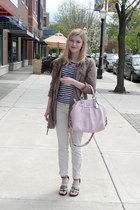 parka 212 jacket - striped Target shirt - coach coach purse - studded Ebay sanda