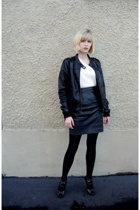 H&M jacket - Hanes shirt - vintage from Ebay skirt - calvin klein shoes