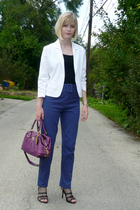 vintage blazer - Anthropologie top - Missoni pants - coach accessories