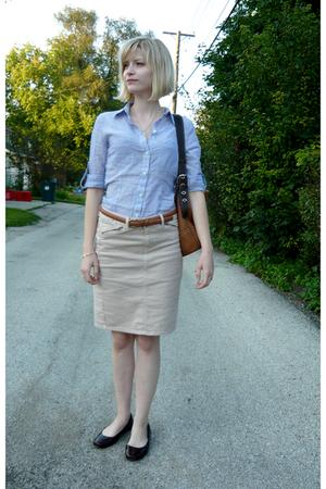 Converse blouse - coach accessories - Gap skirt - born shoes