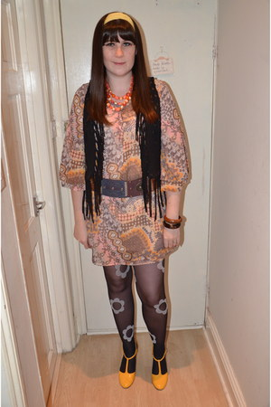asos shoes - Primark dress - Mary Quant tights - H&M vest - Vintage costume neck