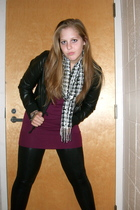 Forever 21 jacket - Target scarf - American Apparel leggings