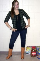 wal-mart blouse - Urban Outfitters boots