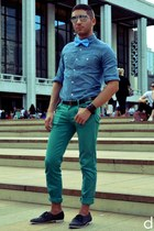 JCrew shirt - Zara pants - Farfalle tie - Levis belt - Forever 21 bracelet