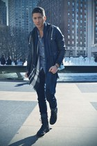 American Apparel t-shirt - Aldo boots - Forever 21 jeans - Charles & 1-2 jacket