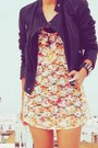Carrot-orange-lace-river-island-dress-black-leather-topshop-jacket