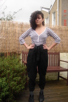 black vagabond shoes - black kaffe pants - H&M shirt