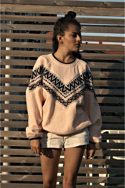 light pink eOvu sweatshirt - off white American Apparel wedges