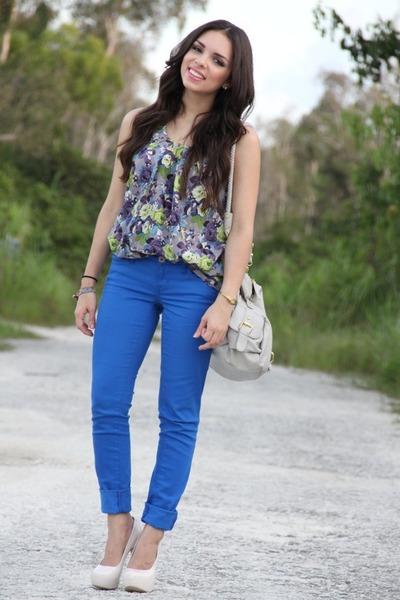 amethyst Forever 21 shirt - blue JC Penney jeans