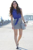 white Forever 21 skirt - black JC Penney shoes
