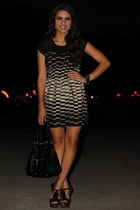 black Steve Madden shoes - black Forever 21 dress - black Mimi Boutique bag - bl