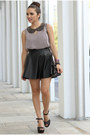 Black-studded-pink-and-pepper-shoes-black-sequins-mimi-boutique-bag