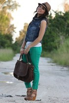 JC Penney jeans - Agaci hat - Mimi Boutique bag - feather Mimi Boutique earrings