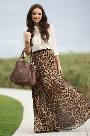 brown as skirt romwe dress - dark brown Mimi Boutique bag