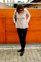 Geox boots - Zara sweater - H&M shorts