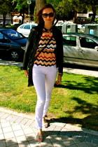 sita murt jacket - Corleone jeans - Giorgio Armani bag - dior sunglasses