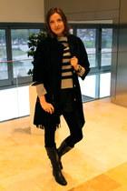 Geox boots - love sex money coat - BLANCO bag - H&M shorts - Timberland jumper
