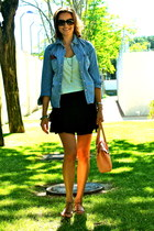 Mango shirt - lamarthe bag - dior sunglasses - Promod skirt - Zara sandals