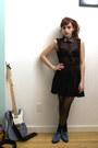 Blue-creepers-asos-shoes-black-nasty-gal-dress-tan-vintage-blazer